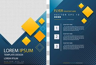 Poster Geometric Shape Flyer PNG