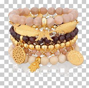 Bead Bracelet Amber PNG