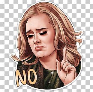 Telegram Adele Sticker Messaging Apps PNG