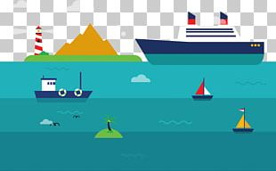 Graphic Design Transport Cargo Ship PNG