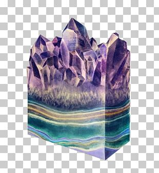 Mineral Watercolor Painting Illustrator Crystal Illustration PNG
