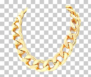Necklace Earring Gold Chain PNG