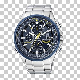 Eco-Drive Citizen Holdings Watch Radio Clock Strap PNG
