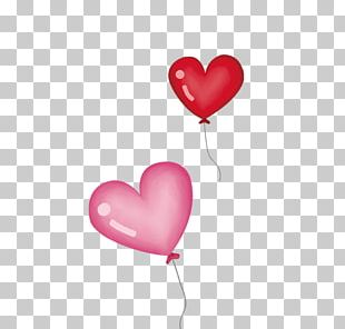 Heart Pink Toy Balloon PNG