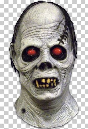 Ghoul Halloween Costume Latex Mask PNG