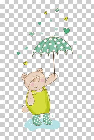 Rabbit Umbrella Stock Illustration Illustration PNG