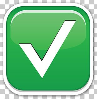 Emoji Check Mark Sticker Symbol IPhone PNG