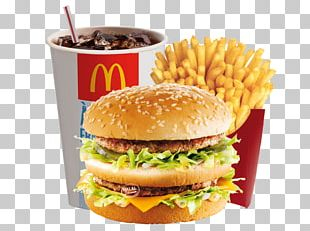 McDonald's Big Mac Hamburger Fast Food French Fries McChicken PNG