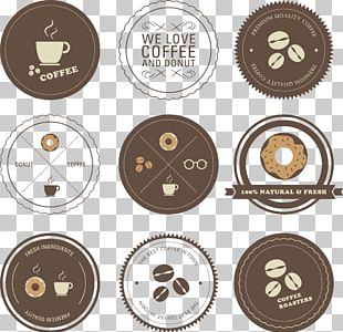 Hand-painted Coffee And Dessert Icons PNG