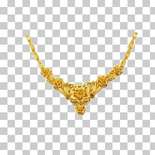 Gold Necklace Jewellery Gratis PNG