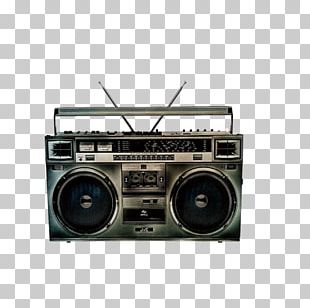 Boombox Radio Compact Cassette PNG