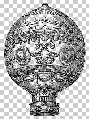 Hot Air Balloon Stock.xchng Antique Retro Style PNG