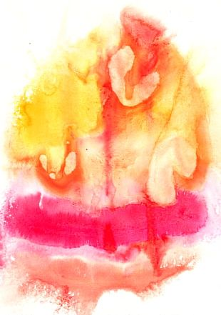 Watercolor Painting Paper Abstract Art PNG