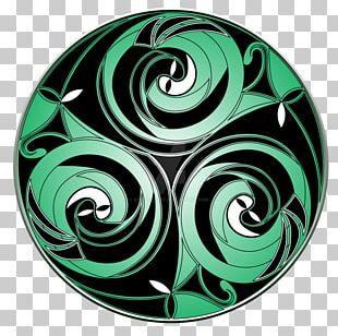 Spiral Circle Pattern PNG
