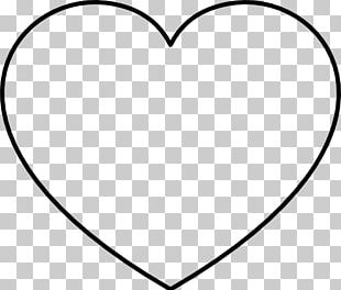 Heart Valentine's Day Black And White PNG