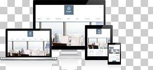 Responsive Web Design Advertising Landing Page PNG