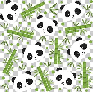 Giant Panda Bear Bamboo Icon PNG