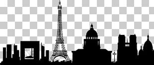 Paris Silhouette Skyline Wall Decal PNG