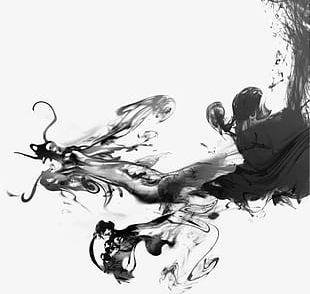Ink Dragon Fetish PNG