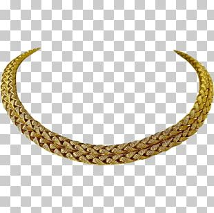 Necklace Choker Jewellery Chain Colored Gold PNG