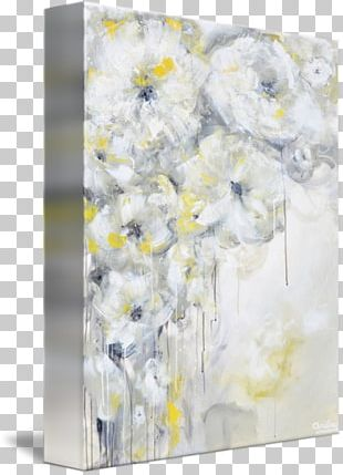 Floral Design Abstract Art Canvas Print Painting PNG