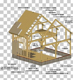 Roof Shed Pole Building Framing Post PNG