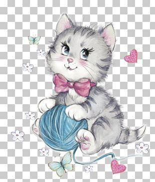 Cat Kitten Wool PNG