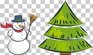 Christmas Tree Snowman PNG