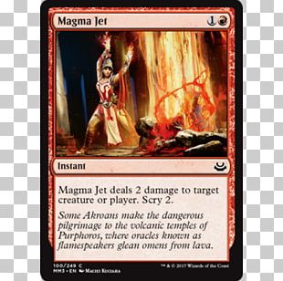 Magic: The Gathering Magma Jet Wizards Of The Coast Theros Playing Card PNG