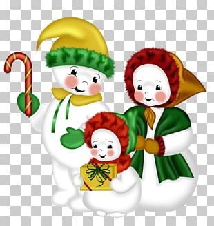 Snowman Family PNG