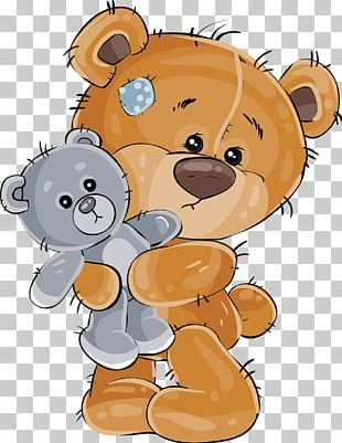 Cartoon Drawing Teddy Bear Illustration PNG