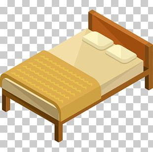 Bed Frame Mattress Table Furniture PNG