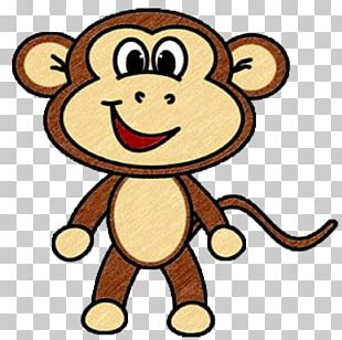 Drawing Monkey Cartoon PNG