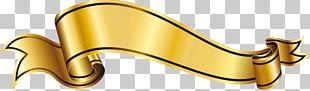 Gold Ribbon PNG