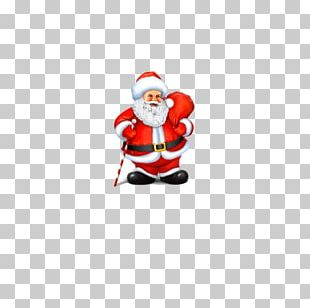Santa Claus Christmas Tree Gift Icon PNG