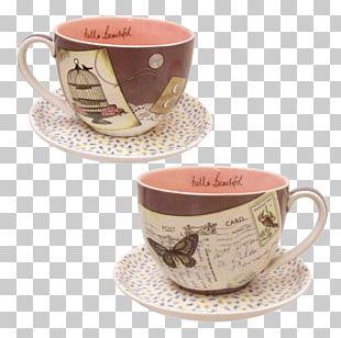 Teacup Coffee Mug Saucer PNG