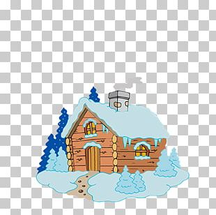 Drawing Log Cabin Cottage House PNG
