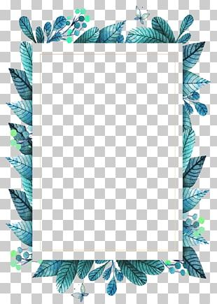Leaf Frame Green PNG