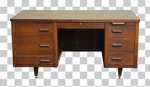 Table Desk Furniture Mid-century Modern Drawer PNG