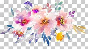 Watercolor: Flowers Paper Watercolor Painting PNG