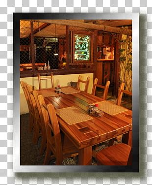 Dining Room Wood Stain Interior Design Services Log Cabin PNG