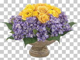 Cut Flowers Floral Design Vase Purple PNG