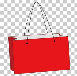 Tote Bag Paper Red Shopping Bag PNG