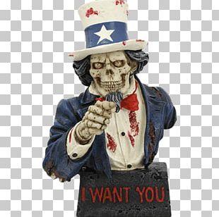 Uncle Sam Figurine Statue Skull Model Figure PNG