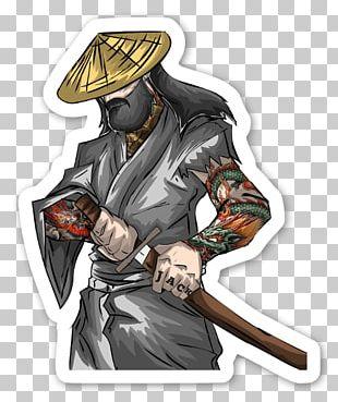 Sticker Label Die Cutting Samurai El Samurái Barbudo PNG