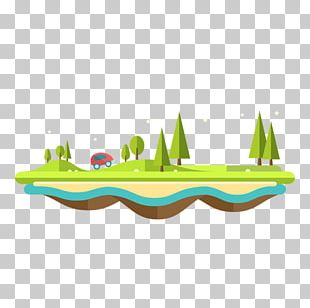 Island Drawing PNG