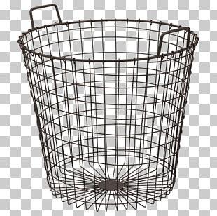 Basket Draadmand Metal Lid Bench PNG