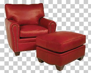 Club Chair Foot Rests Couch Furniture PNG