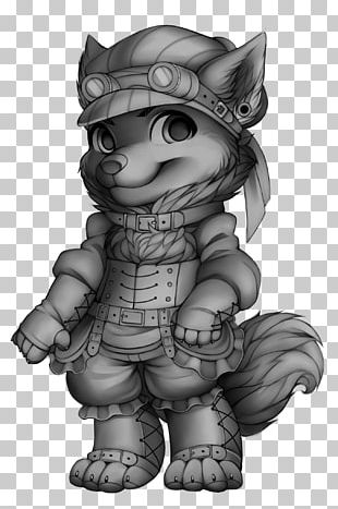 Halloween Costume Steampunk Gray Wolf Cosplay PNG