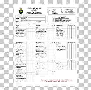 Elementary School Student Report Card Grading In Education PNG